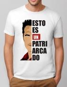 Ανδρικό t-shirt  λευκό με στάμπα Esto es un Patriarchado