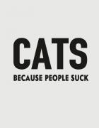 Κούπα κεραμική με τύπωμα Cats because people suck