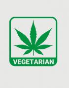 Hoodied φούτερ με στάμπα Vegetarian