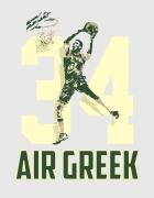 Αμάνικο φούτερ γκρι με τύπωμα Air Greek