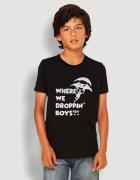 Μπλουζάκι με τύπωμα Where we droppin boys?
