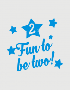 Μπλουζάκι με στάμπα Fun to be two!