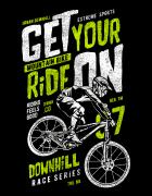 Μπλουζάκι με τύπωμα Get your ride on!
