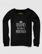 Sweatshirt με στάμπα Queens are born in November