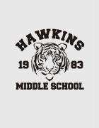 Hoodied φούτερ με στάμπα Hawkins