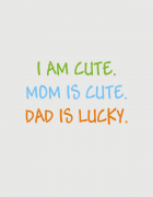 Παιδικό φορμάκι με στάμπα Dad is lucky