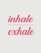 Υφασμάτινη τσάντα με στάμπα Inhale Exhale