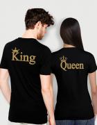 Μπλουζάκι με στάμπα King - Queen