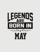 Μπλουζάκι με στάμπα Legends are born in May