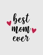 Μπλουζάκι με τύπωμα Best mom ever