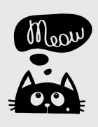 Κούπα κεραμική με τύπωμα Meow