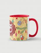 Κούπα κεραμική με τύπωμα Χριστουγεννιάτικο Μονόγραμμα