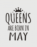 Μπλουζάκι με στάμπα Queens are born in May