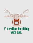 Μπλουζάκι με στάμπα Riding with dad