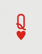 Κούπες κεραμικές με τύπωμα King and Queen of Hearts