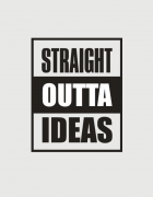 Κούπα κεραμική με στάμπα Straight outta ideas