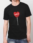 Μπλουζάκι με στάμπα Suck it