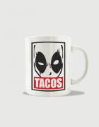 Κούπα κεραμική με στάμπα Deadpool Tacos