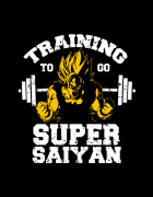 Hoodied φούτερ με στάμπα Super Sayian