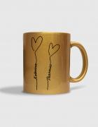 Κούπα κεραμική με χρυσή τύπωμα Love Balloons