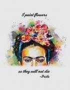 Μπλουζάκι με τύπωμα Frida Flowers