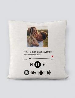 Μαξιλάρι με τύπωμα Love Song