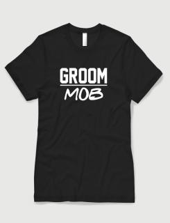 Μπλουζάκι με τύπωμα Groom Mob