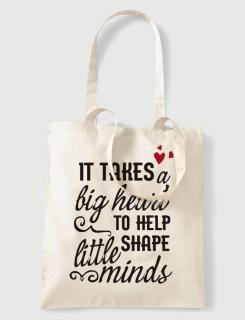 Υφασμάτινη τσάντα με στάμπα It takes a big heart