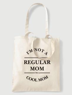 Υφασμάτινη τσάντα με στάμπα I am not a regular mom
