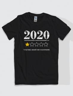 ανδρικό t-shirt μαύρο με στάμπα 2020 would not recommend