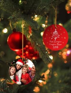 Χριστουγεννιάτικο Στολίδι με τυπωμα