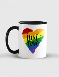 Κούπα κεραμική με τύπωμα Just Love