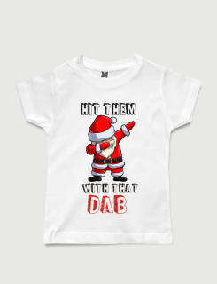 παιδικό μπλουζάκι μαύρο με στάμπα Santa Dab