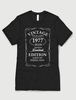 Μπλουζάκι με τύπωμα Vintage One of a Kind 1977