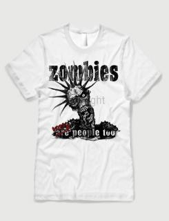 58ea30eaac94 ανδρικό t-shirt λευκό με στάμπα Zombies were humans too