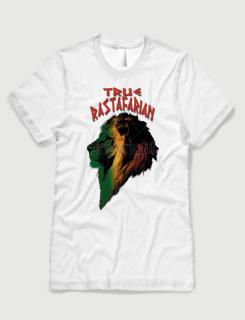 ανδρικό t-shirt  λευκό με στάμπα True Rastafarian