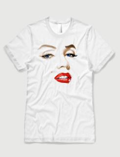 ανδρικό t-shirt  λευκό με στάμπα Marilyn