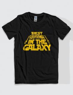Μπλουζάκι με τύπωμα Best godfather in the galaxy
