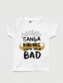 Μπλουζάκι με τύπωμα Santa Knows