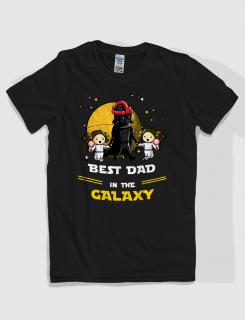 Μπλουζάκι με τύπωμα Best dad in the galaxy girls