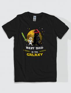 Μπλουζάκι με τύπωμα Best dad in the galaxy boy
