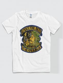 ανδρικό t-shirt  λευκό με στάμπα Smoke the best
