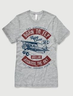 Μπλουζάκι με στάμπα Born to fly