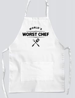 Ποδιά με στάμπα World's worst chef