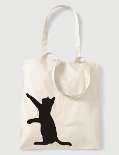 Υφασμάτινη τσάντα με στάμπα Climb Cat