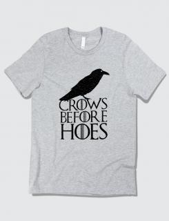Μπλουζάκι με στάμπα Crows before hoes