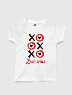 Μπλουζάκι με στάμπα Love wins