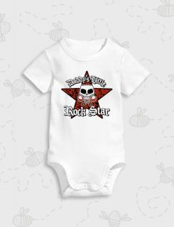 Παιδικό φορμάκι με στάμπα Daddy's Little Rock Star