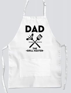 Ποδιά μαγειρικής με εκτύπωση Dad the grill master