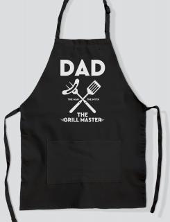 Ποδιά Μαγειρικής με τύπωμα Dad the grill master